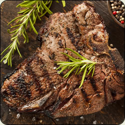 Criollo - T-Bone Steak - The Tenderloin Filet and New York Strip, all in 1 delicious steak!