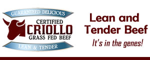 Criollo Grass Fed Beef