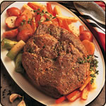 This Grass Fed Criollo Beef is delicious! AUTUMN POT ROAST WITH ROOT VEGETABLES