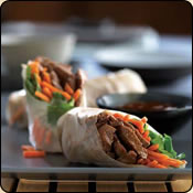 This Grass Fed Criollo Beef is delicious! BEEF SPRING ROLLS WITH CARROTS AND CILANTRO