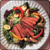 This Grass Fed Criollo Beef is delicious! BEEF STEAK & ROASTED VEGETABLE SALAD