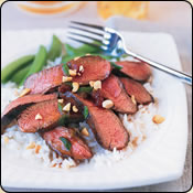 This Grass Fed Criollo Beef is delicious! BEEF STEAK WITH CURRIED ONION-PLUM SAUCE