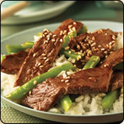 This Grass Fed Criollo Beef is delicious! BEEF STIR-FRY WITH GREEN BEANS