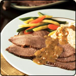 This Grass Fed Criollo Beef is delicious! BEER-BRAISED BRISKET WITH MUSTARD SAUCE