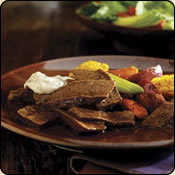 This Grass Fed Criollo Beef is delicious! BRAISED BEEF WITH LIME-CILANTRO MAYONNAISE