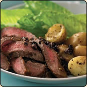 This Grass Fed Criollo Beef is delicious! CAESAR BEEF STEAK WITH CHUNKY OLIVE TAPENADE