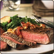 This Grass Fed Criollo Beef is delicious! PEPPERED STEAKS WITH CARAMELIZED ONIONS
