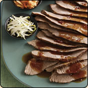 This Grass Fed Criollo Beef is delicious! SLICED BEEF WITH ASIAN CHILI SAUCE