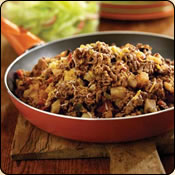 This Grass Fed Criollo Beef is delicious! SOUTH-OF-THE-BORDER BEEF HASH