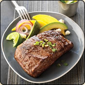 This Grass Fed Criollo Beef is delicious! SPICY GRILLED RIBEYE WITH AVOCADO-MANGO SALAD